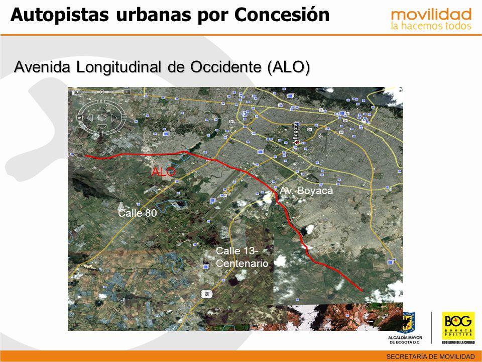 Avenida Longitudinal de Occidente (ALO) Avenida Longitudinal de Occidente (ALO) Calle 80 Calle 13- Centenario Av. Boyacá ALO