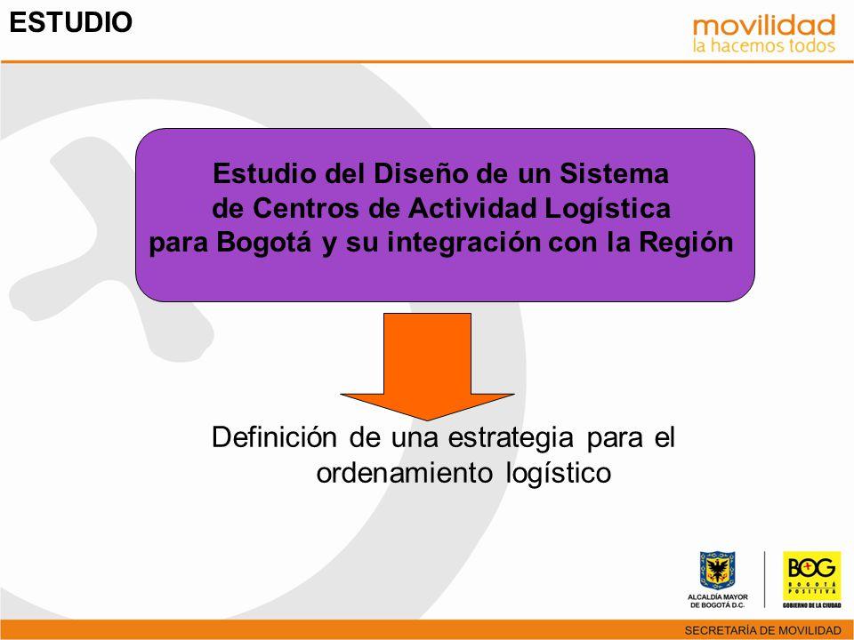 Estudio del Diseño de un Sistema de Centros de Actividad Logística para Bogotá y su integración con la Región Definición de una estrategia para el ord