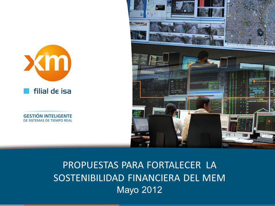 PROPUESTAS PARA FORTALECER LA SOSTENIBILIDAD FINANCIERA DEL MEM Mayo 2012