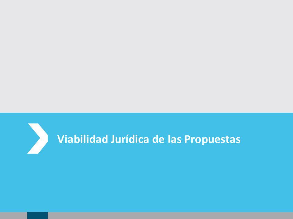 Viabilidad Jurídica de las Propuestas