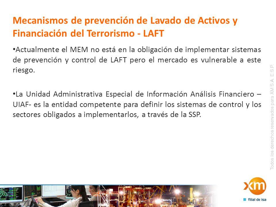 Todos los derechos reservados para XM S.A. E.S.P. Mecanismos de prevención de Lavado de Activos y Financiación del Terrorismo - LAFT Actualmente el ME