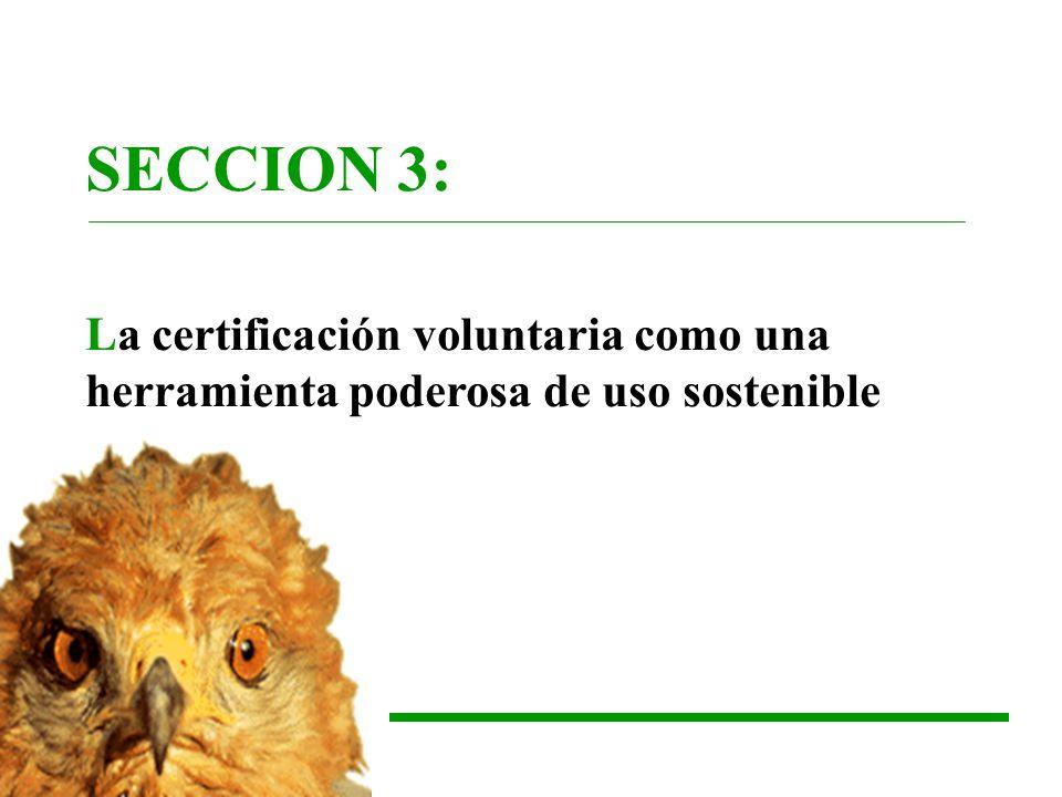 SECCION 3: La certificación voluntaria como una herramienta poderosa de uso sostenible