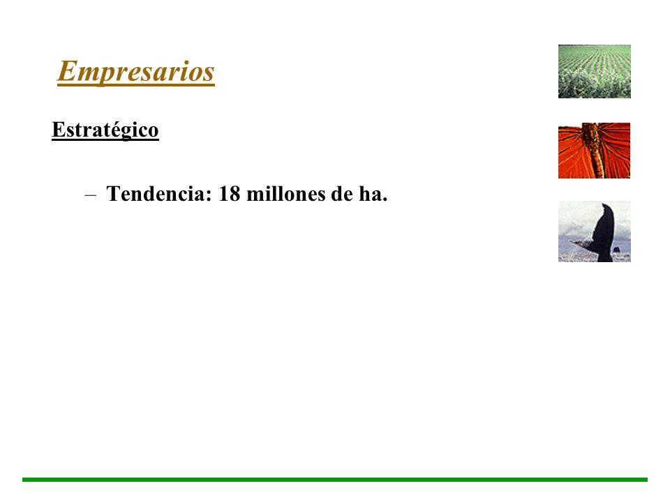 Empresarios Estratégico –T–Tendencia: 18 millones de ha.