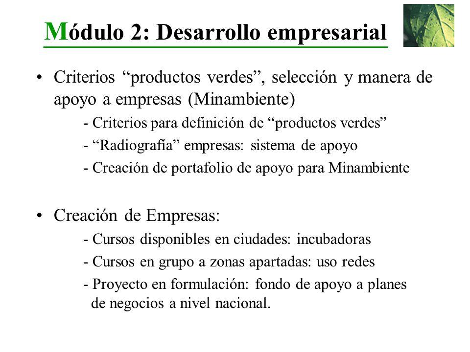 Criterios productos verdes, selección y manera de apoyo a empresas (Minambiente) - Criterios para definición de productos verdes - Radiografía empresa