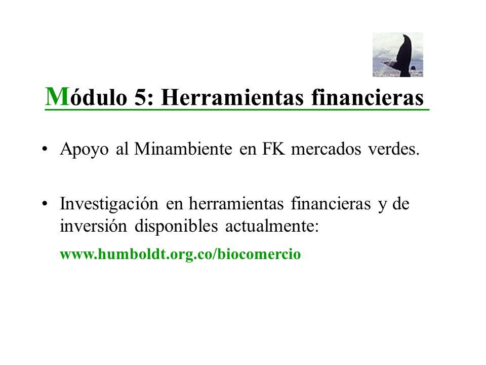 Apoyo al Minambiente en FK mercados verdes. Investigación en herramientas financieras y de inversión disponibles actualmente: www.humboldt.org.co/bioc