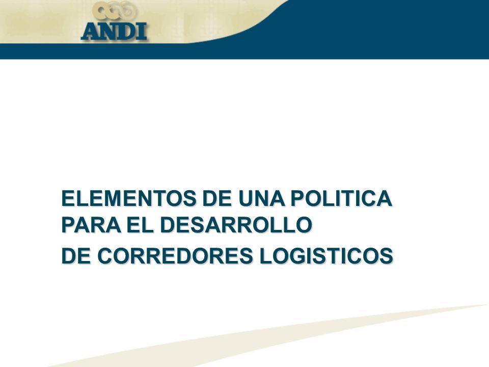 ELEMENTOS DE UNA POLITICA PARA EL DESARROLLO DE CORREDORES LOGISTICOS