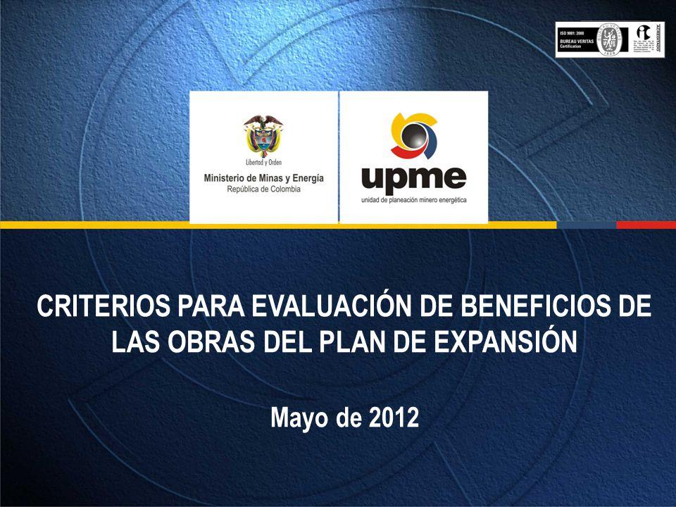 EVALUACIÓN ECONÓMICA (B/C) Beneficios: Reducción de la generación requerida en el área Suroccidental si y solo si este despacho no esta en mérito.