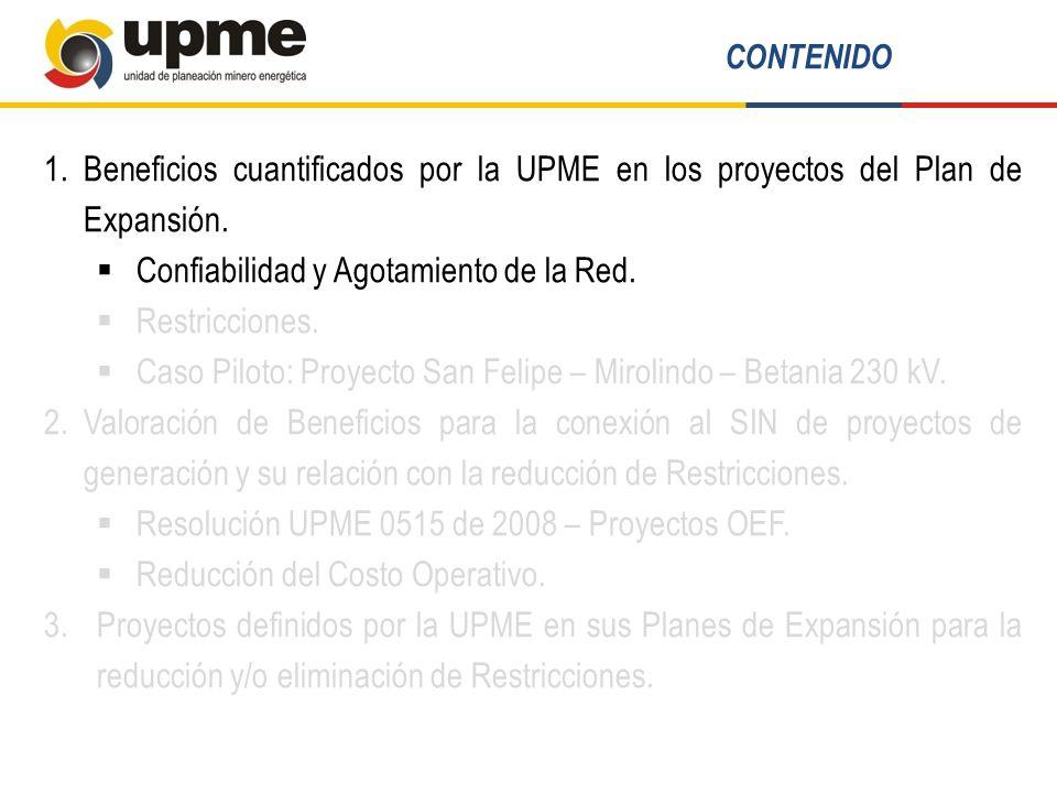 ProyectoDescripciónRestricción que alivia Nueva EsperanzaS/E Nueva esperanza 500/230 kV – 450 MVA y obras asociadas a nivel de transmisión.
