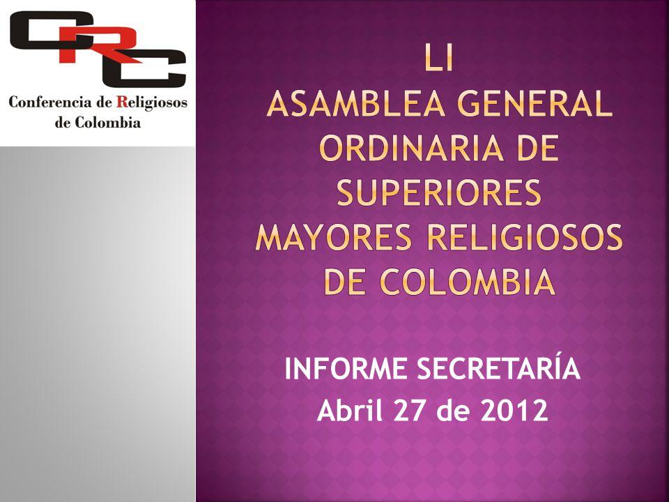FORTALEZAS Talleres y asambleas han fortalecido la vida religiosa que ha nacido en Colombia.