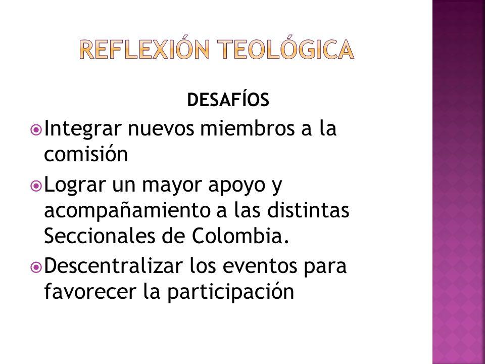 DESAFÍOS Integrar nuevos miembros a la comisión Lograr un mayor apoyo y acompañamiento a las distintas Seccionales de Colombia. Descentralizar los eve