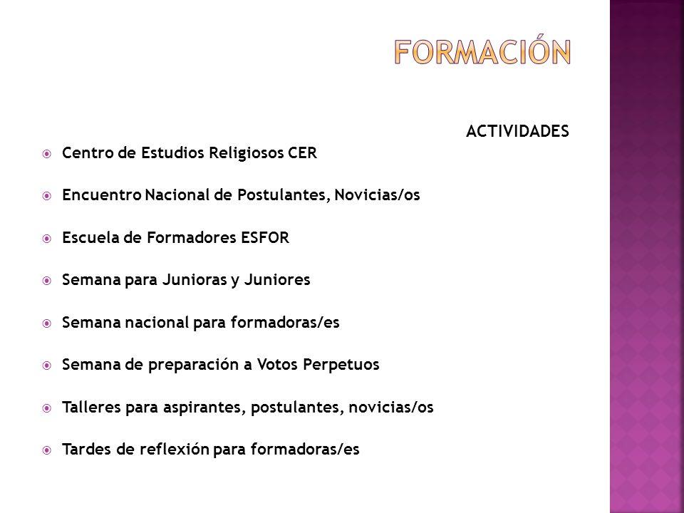 ACTIVIDADES Febrero 4 y 5 de 2011: se realiza el Seminario Taller para Ecónomas/os en el colegio Teresiano.