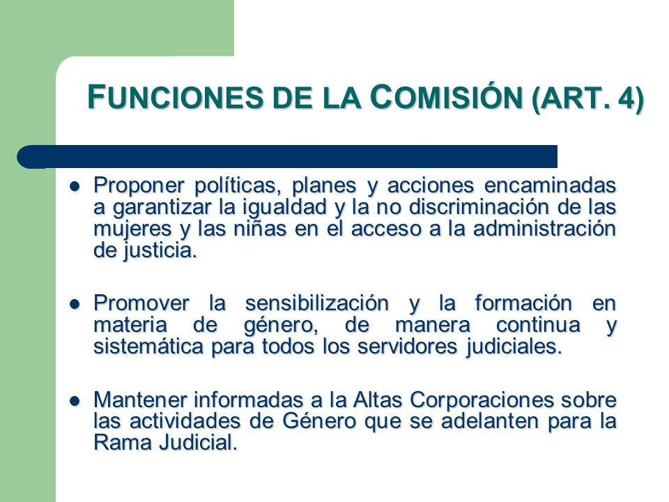 F UNCIONES DE LA C OMISIÓN (ART.