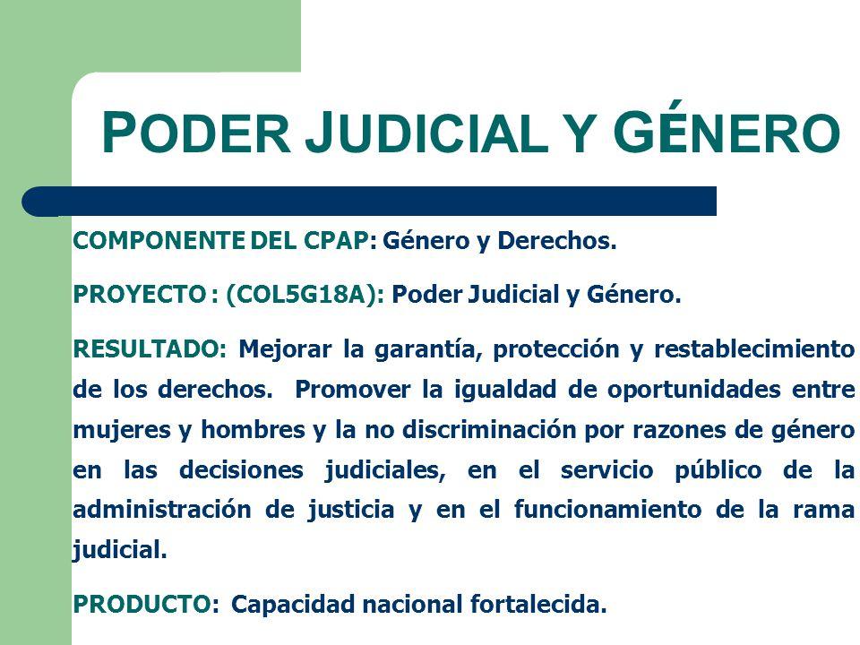 C ÓMITES S ECCIONALES (ART.10) En cada uno de los distritos judiciales del país se constituirán comités seccionales de género de la Rama Judicial.