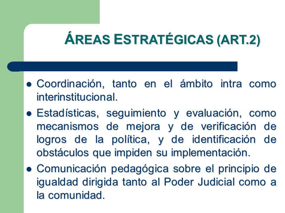 Coordinación, tanto en el ámbito intra como interinstitucional.