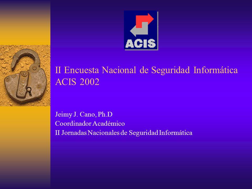 ACIS 2002 - All rights Reserved12 Resultados de la Encuesta Demografía - Participantes