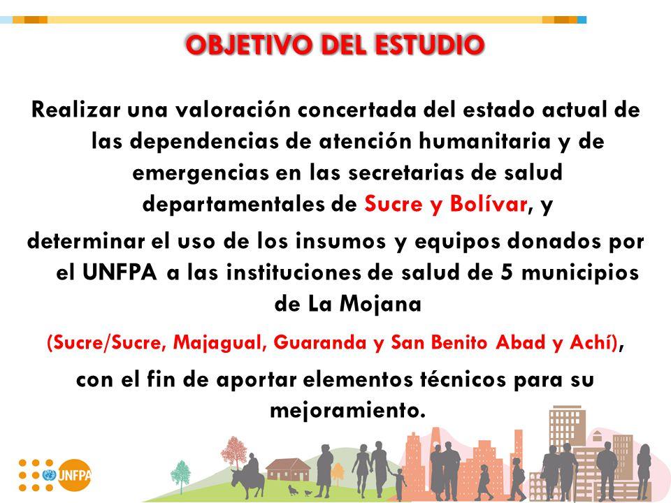 OBJETIVO DEL ESTUDIO Realizar una valoración concertada del estado actual de las dependencias de atención humanitaria y de emergencias en las secretar