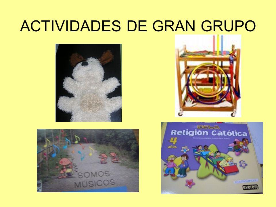 ACTIVIDADES DE PEQUEÑO GRUPO