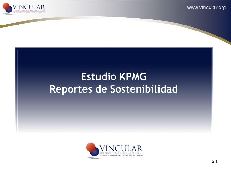 www.vincular.org 24 Estudio KPMG Reportes de Sostenibilidad