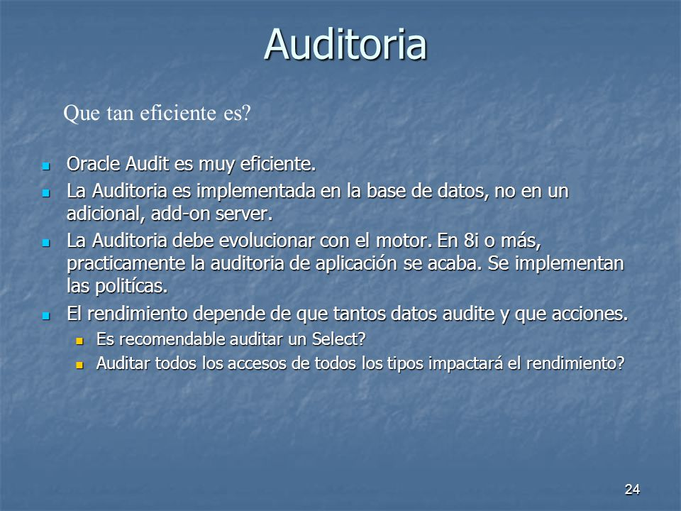 23 Auditoria Extendida ********************************** ********************************** ACTION_DATE=> 04/28/2003 02:04:56 PM ACTION_DATE=> 04/28/