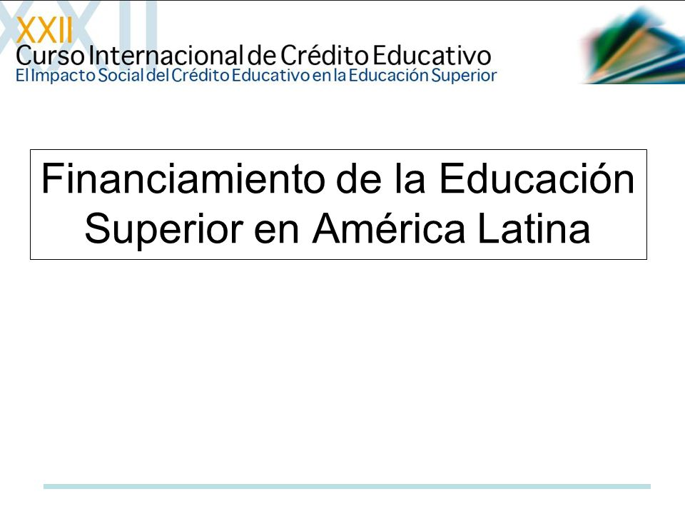 Financiamiento de la Educación Superior en América Latina