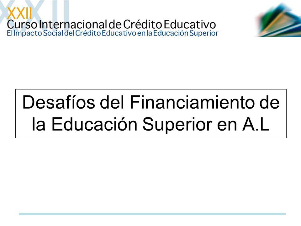 Desafíos del Financiamiento de la Educación Superior en A.L