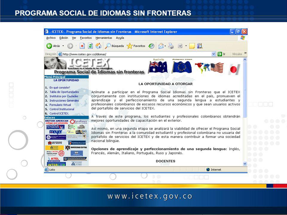 PROGRAMA SOCIAL DE IDIOMAS SIN FRONTERAS