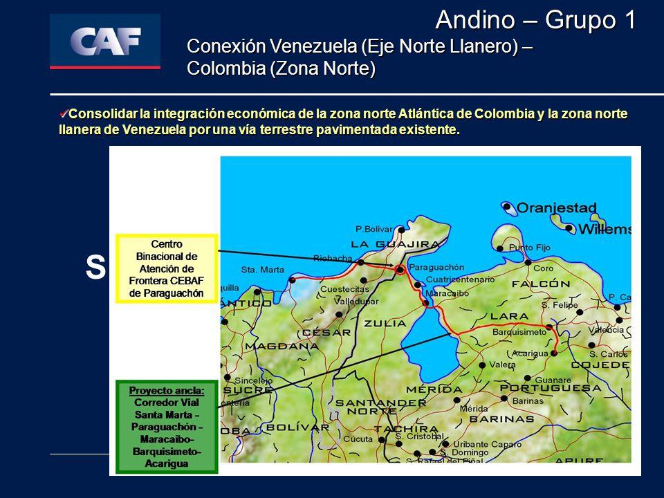 LA INTEGRACIÓN SUDAMERICANA Y SUS RETOS FUTUROS Quito, 29 de Junio de 2005 Consolidar la integración económica de la zona norte Atlántica de Colombia y la zona norte llanera de Venezuela por una vía terrestre pavimentada existente.