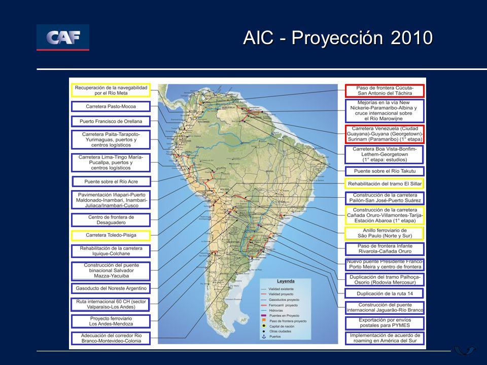 IIRSA y Colombia Eje Andino Eje Amazonas Área: 4.7 Millones de Km².