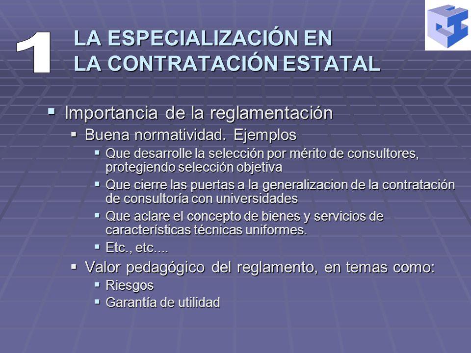 Importancia de la reglamentación Importancia de la reglamentación Buena normatividad.