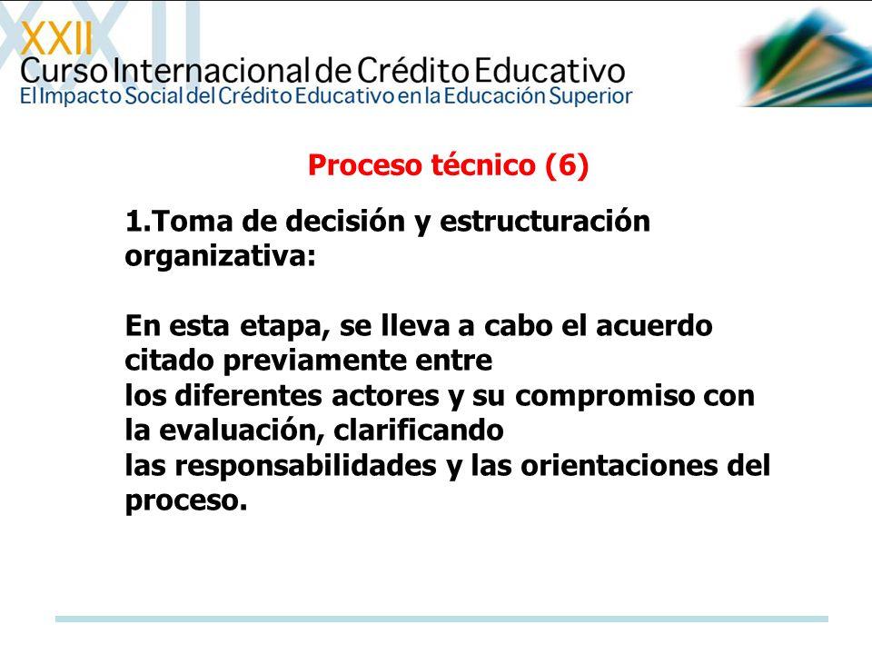 1.Toma de decisión y estructuración organizativa: En esta etapa, se lleva a cabo el acuerdo citado previamente entre los diferentes actores y su compr