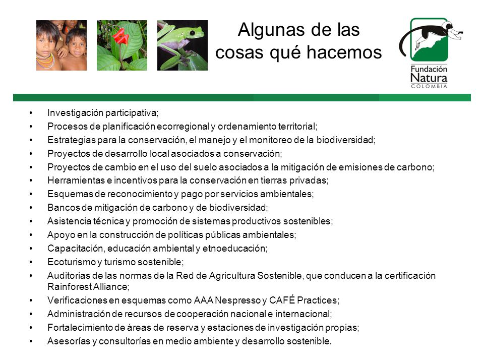 CERTIFICACIÓN SOSTENIBLE RAINFOREST ALLIANCE