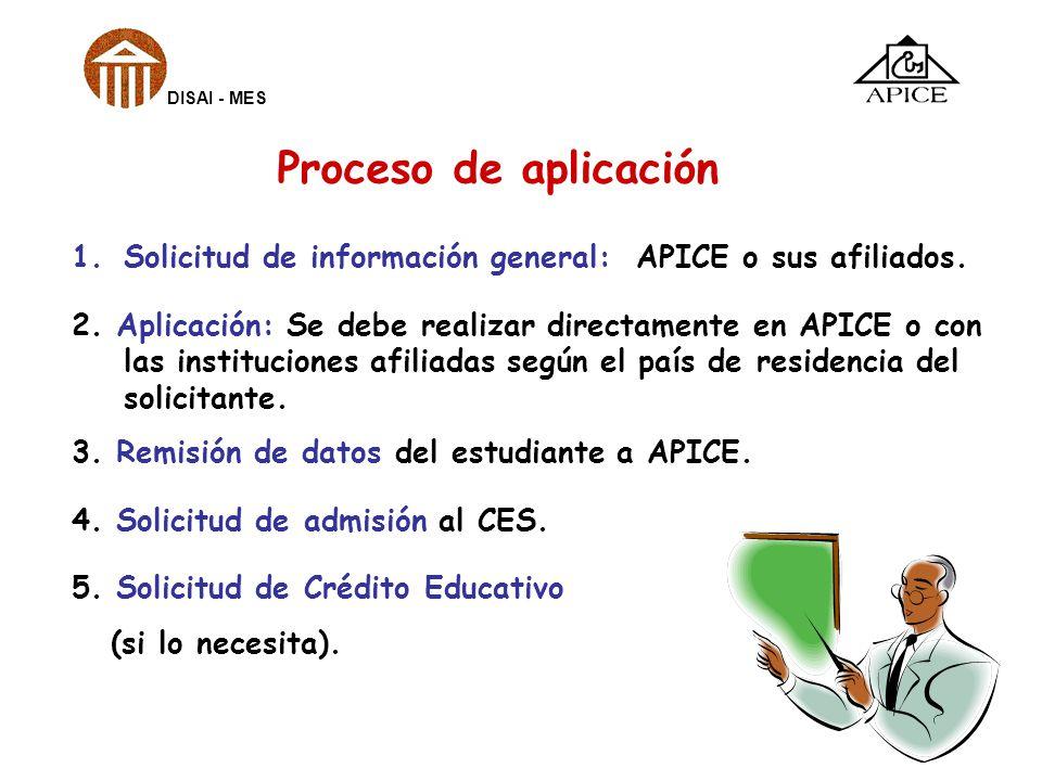 1.Solicitud de información general: APICE o sus afiliados. 2. Aplicación: Se debe realizar directamente en APICE o con las instituciones afiliadas seg