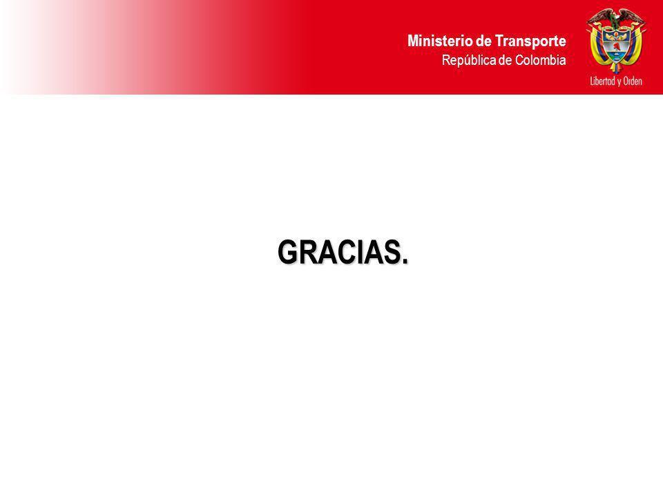 Ministerio de Transporte República de Colombia GRACIAS.