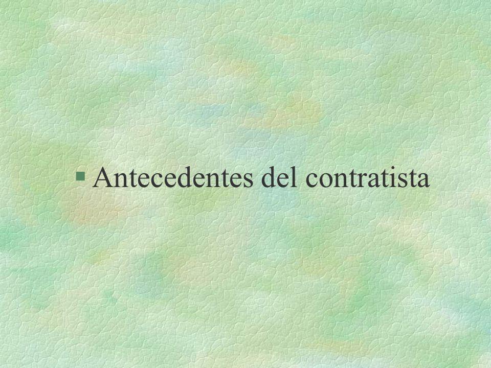 §A§Antecedentes del contratista