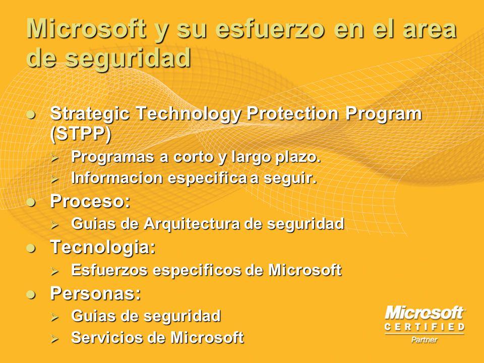 Microsoft y su esfuerzo en el area de seguridad Strategic Technology Protection Program (STPP) Strategic Technology Protection Program (STPP) Programa