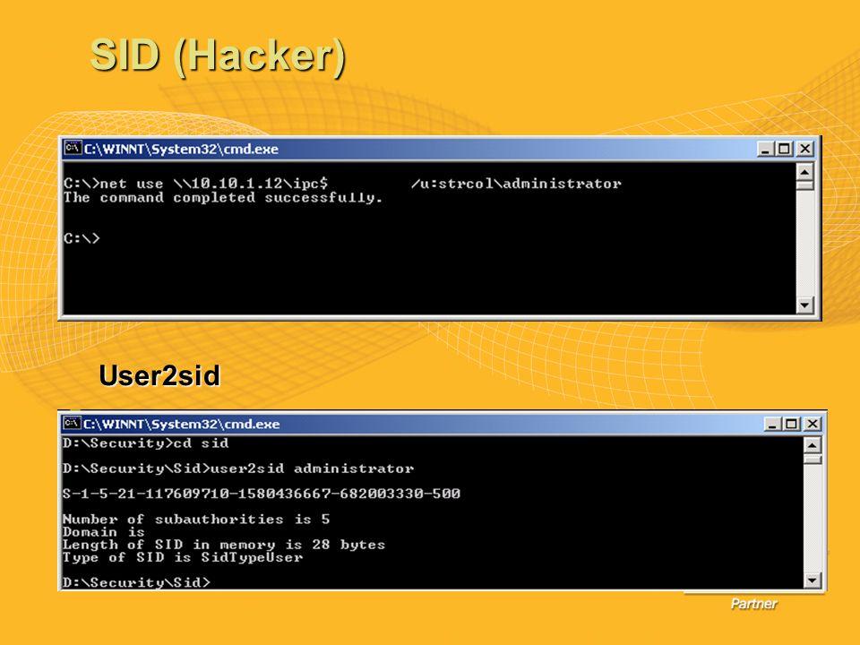 User2sid SID (Hacker)