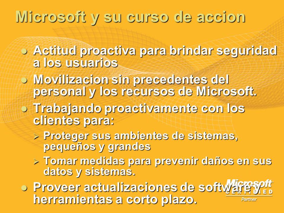 Microsoft y su curso de accion Actitud proactiva para brindar seguridad a los usuarios Actitud proactiva para brindar seguridad a los usuarios Moviliz