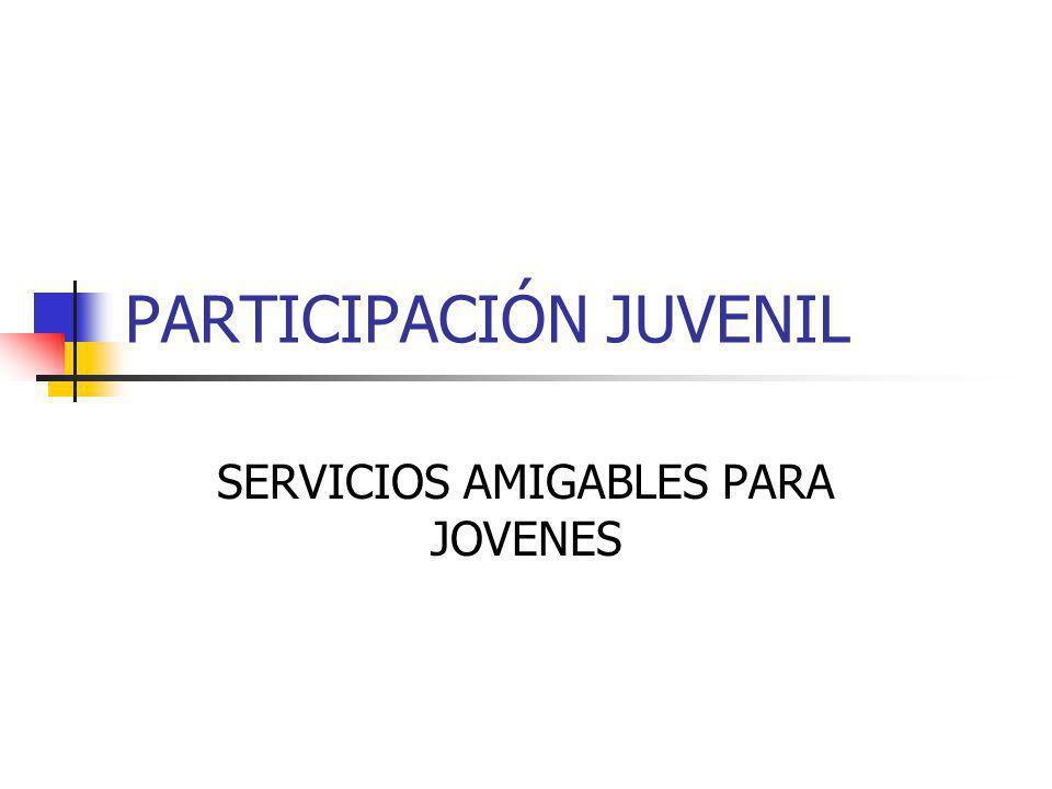PARTICIPACIÓN JUVENIL SERVICIOS AMIGABLES PARA JOVENES