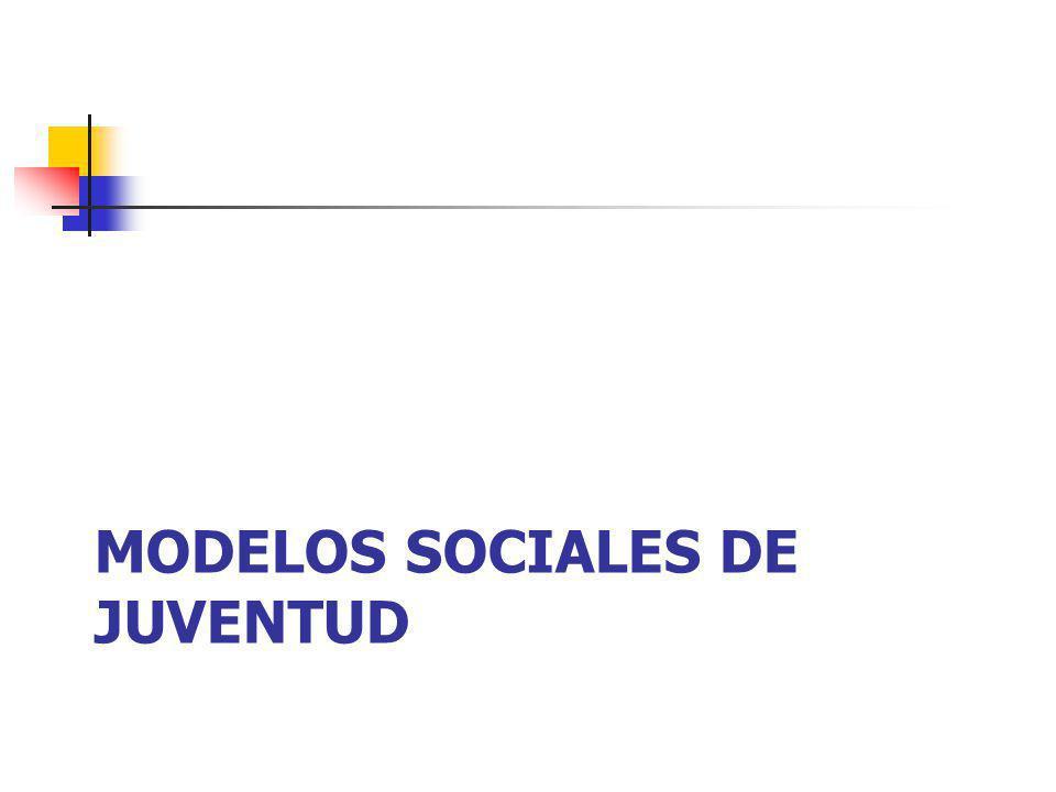 MODELOS SOCIALES DE JUVENTUD