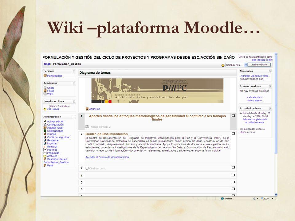 Wiki –plataforma Moodle…