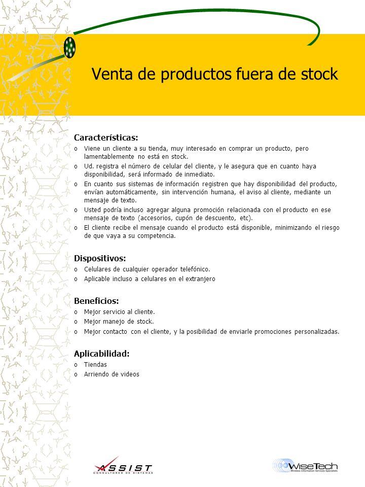 Venta de productos fuera de stock Características: oViene un cliente a su tienda, muy interesado en comprar un producto, pero lamentablemente no está en stock.