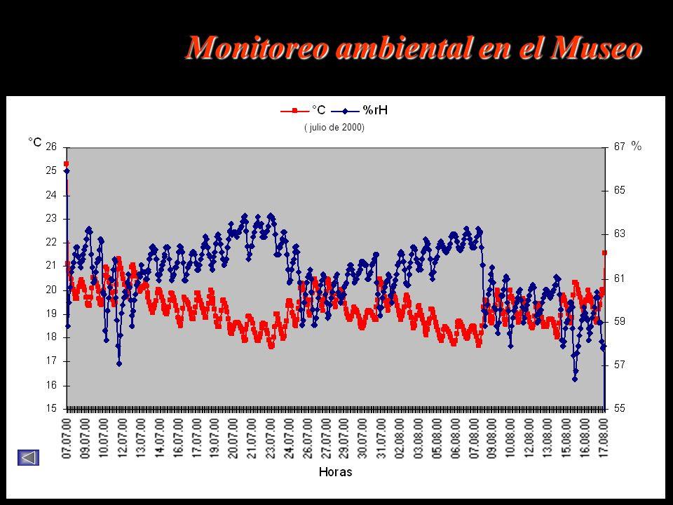 ( julio de 2000) Monitoreo ambiental en el Museo ( julio de 2000)