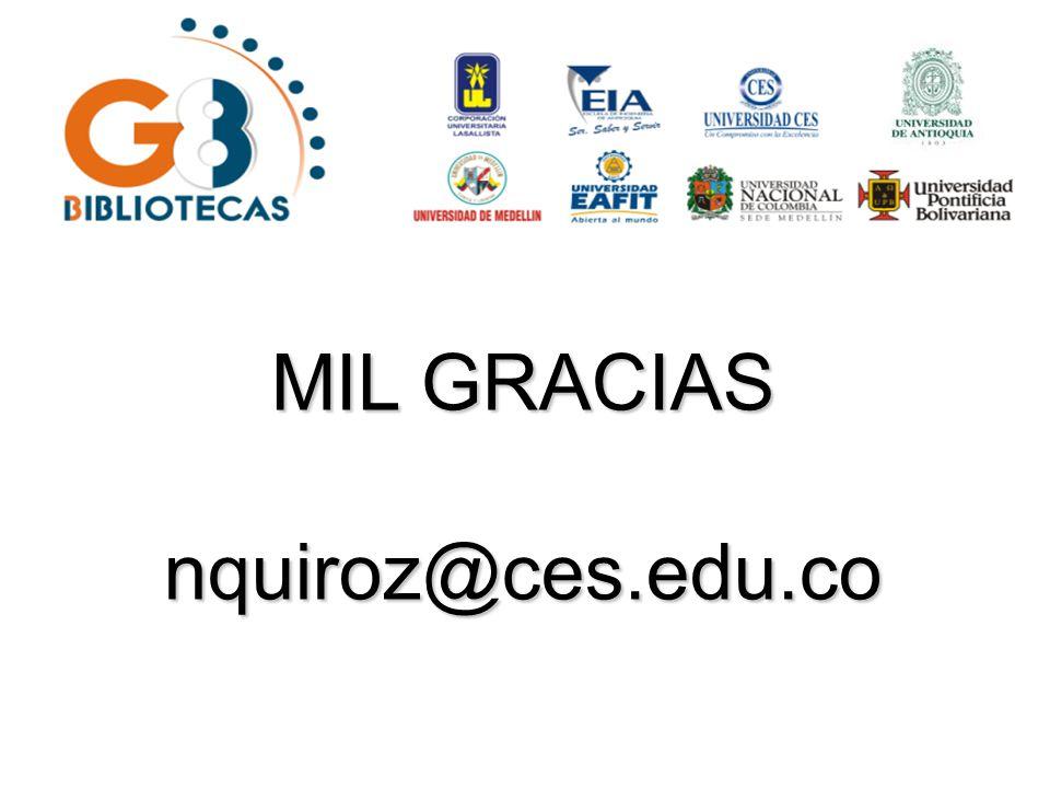 MIL GRACIAS nquiroz@ces.edu.co