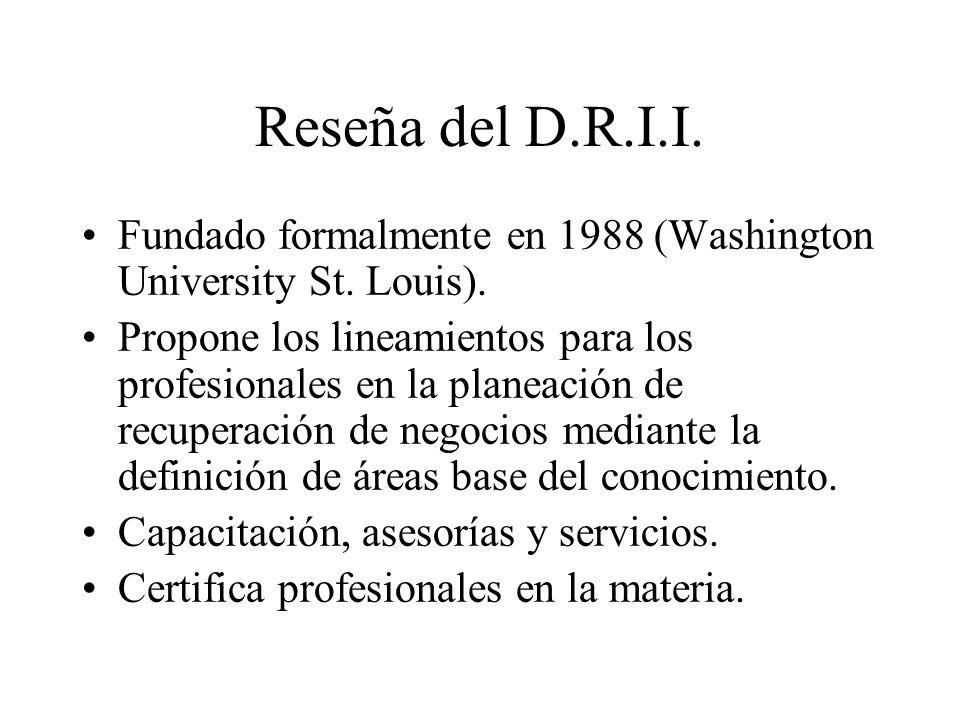 Reseña del D.R.I.I.Fundado formalmente en 1988 (Washington University St.