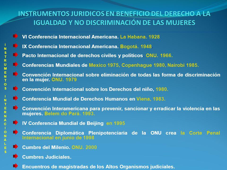INSTRUMENTOS JURIDICOS EN BENEFICIO DEL DERECHO A LA IGUALDAD Y NO DISCRIMINACIÓN DE LAS MUJERES INSTRUMENTOS INTERNACIONALES INSTRUMENTOS INTERNACIONALES Convención Internacional sobre eliminación de todas las forma de discriminación en la mujer (CEDAW).