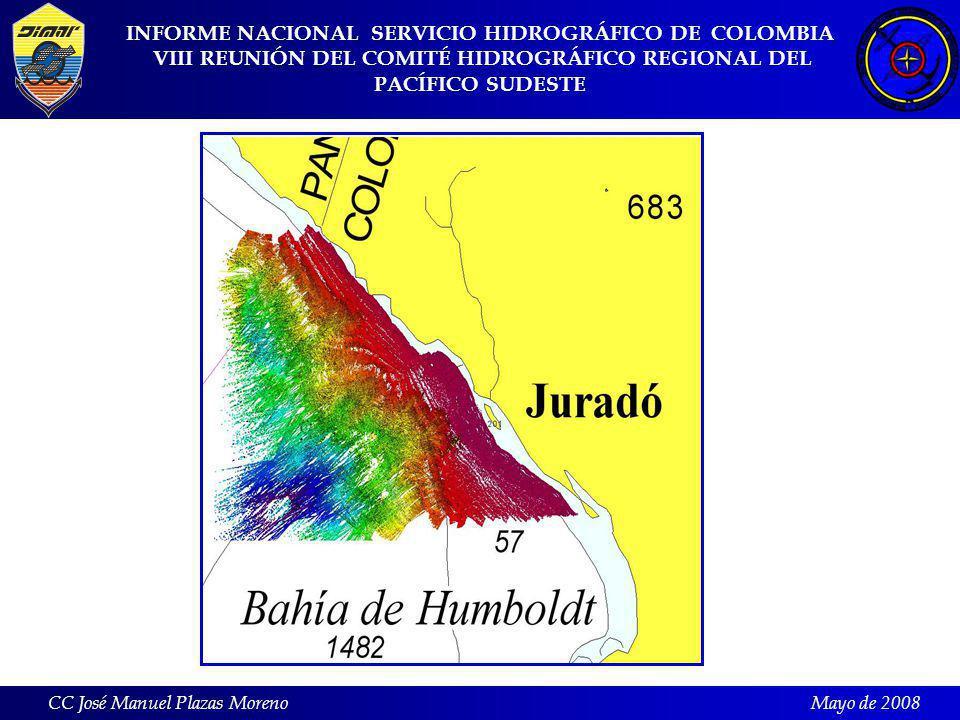 INFORME NACIONAL SERVICIO HIDROGRÁFICO DE COLOMBIA VIII REUNIÓN DEL COMITÉ HIDROGRÁFICO REGIONAL DEL PACÍFICO SUDESTE CC José Manuel Plazas MorenoMayo de 2008
