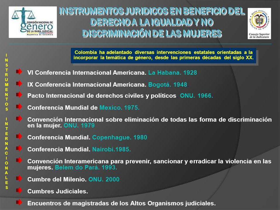 INSTRUMENTOS INTERNACIONALES INSTRUMENTOS INTERNACIONALES VI Conferencia Internacional Americana.