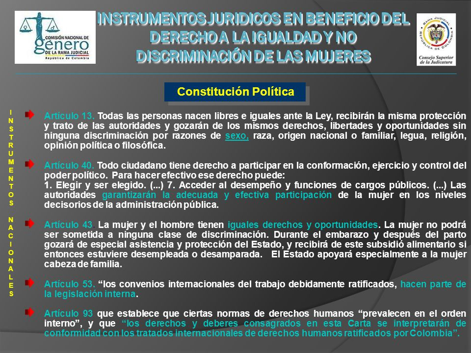 3 Colombia ha adelantado diversas intervenciones estatales orientadas a la incorporar la temática de género, desde las primeras décadas del siglo XX.