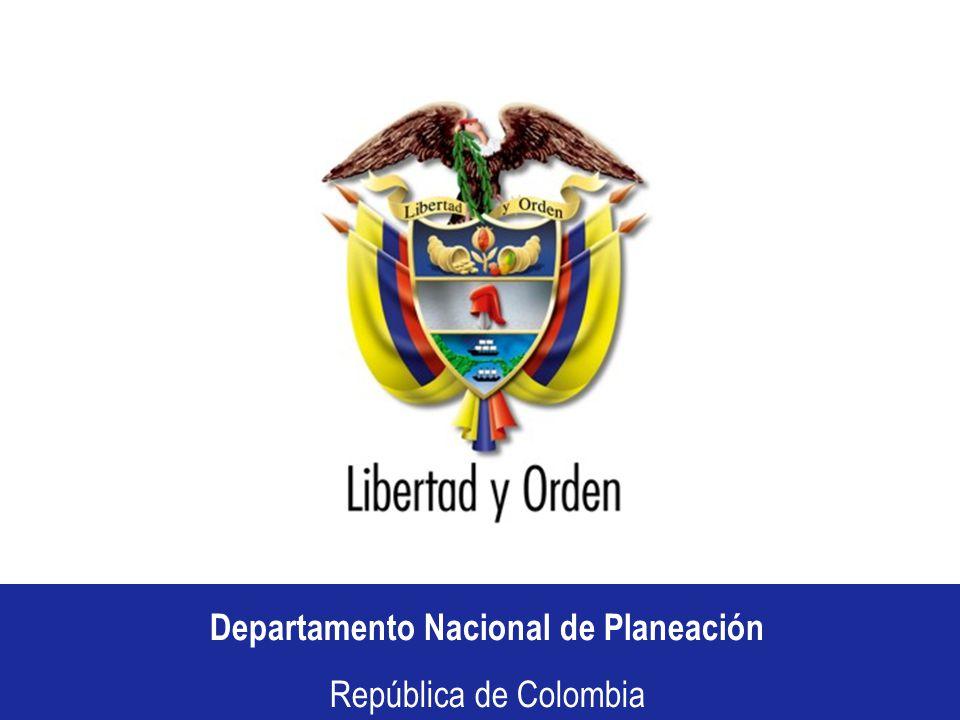 Departamento Nacional de Planeación República de Colombia CONSEJO COMUNAL DE SEGUIMIENTO DEPARTAMENTO DE CUNDINAMARCA