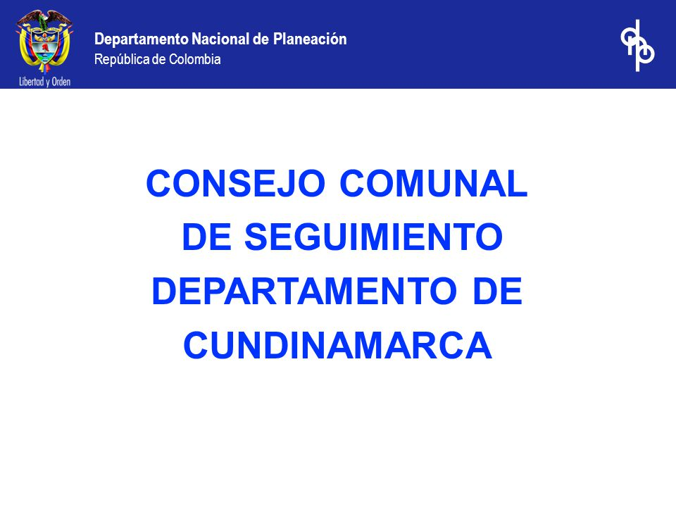 Departamento Nacional de Planeación República de Colombia Sistema General de Participaciones 2004 Asignación Conpes 077, 079 y 083